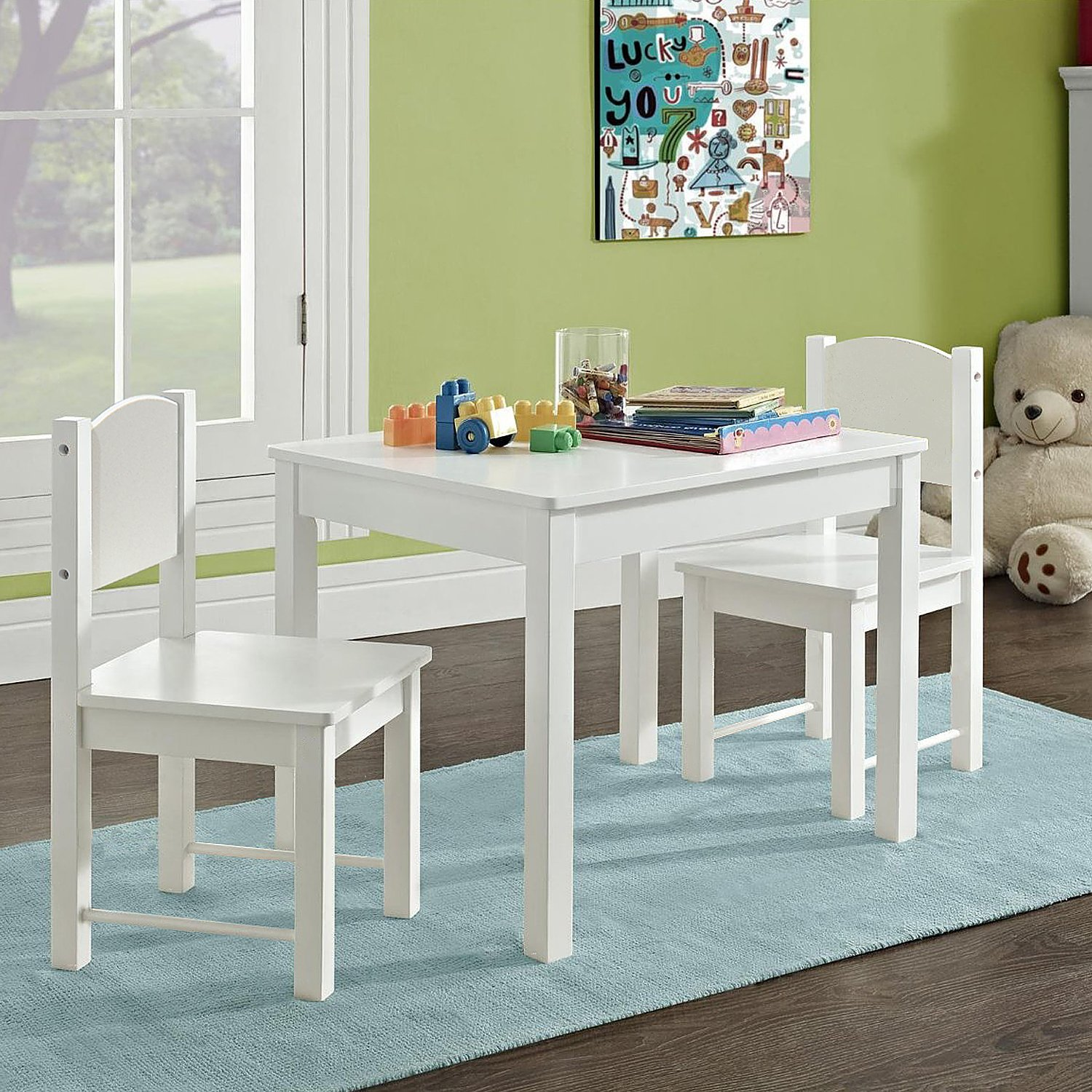 SimLife Wooden Kids Table and 2 Chairs Set [kidstable] - $139.99 ...